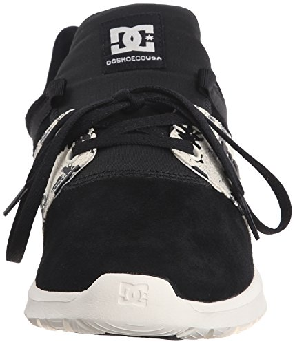 DC hombres de Heathrow se informal Skate zapatos Negro/Estampado blanco