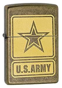 Zippo US Army Lighter, Antique Brass