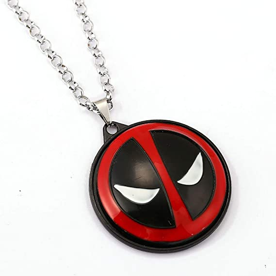 Mct12 - MS Jewelry Deadpool Choker Necklace Rotatable Pendant Men Women Gift Movie Anime Accessories - - Amazon.com