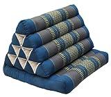 Kapok Thai Cushion Recliner with A triangular Cushion-Blue / Grey (81901)
