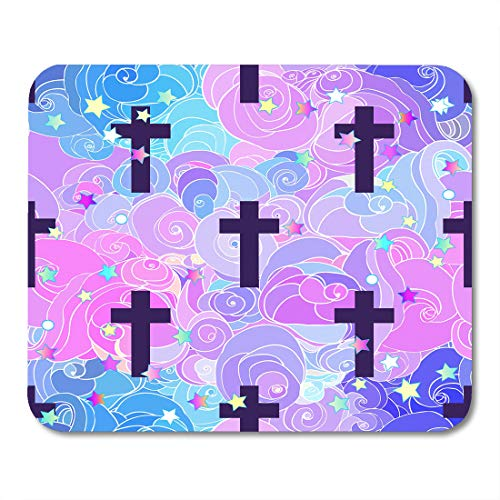 Emvency Mouse Pads Colorful 90S Kawaii Funny Spooky Halloween in Neon Pastel Colors Cute Gothic Vanilla Rainbow Pink Anime Mousepad 9.5