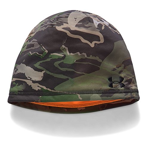 Under Armour Men's Reversible Fleece 2.0 Beanie, Ridge Reaper Camo Fo (943)/Black, One (Under Armour Embroidered Beanie)