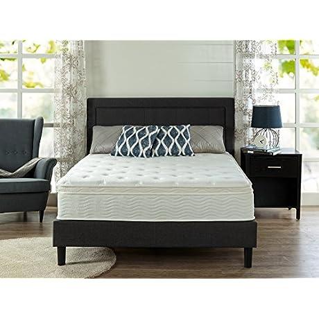 Zinus Sleep Master Ultima Comfort 12 Inch Euro Box Top Spring Mattress Queen