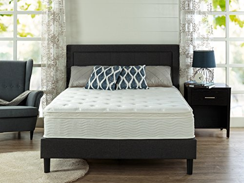 Zinus Ultima Comfort 12 Inch Euro Box Top Spring Mattress, King (Super Mattress Euro Top)