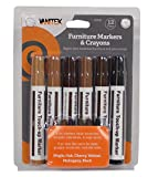 Vanitek Total Furniture Repair System - 12Pc Scratch Restore & Repair Touch-Up Marker Kit - Felt Tip Markers, Wax Stick Crayons (1-Pack)