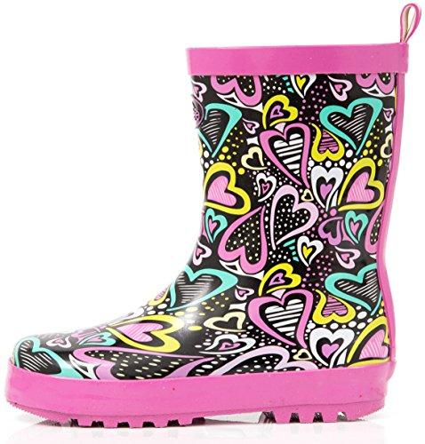 Outee Girls Kids Toddler Wellies Wellingtons Rain Boots Waterproof Rubber...