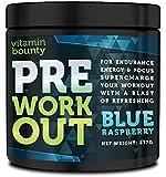 VB- PreWorkout Energy & Focus - SUPERCHARGE your workout - Blue Raspberry Flavor - 30 Servings