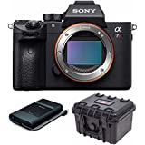 Sony Alpha a7R III Full-Frame Mirrorless Camera (Body Only) with Sony USB 3.0 Cable / USB-C Port Portable External Hard Disk Drive (1TB) Bundle