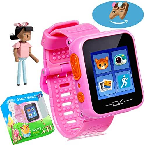 Game Smart Watch with Virtual Cyber Pet Camera Pedometer Timer Alarm Clock Toy Wrist Watch Health Monitor for Kids Children Boys Girls (003 Lovely Pink) (003 Lovely Pink)