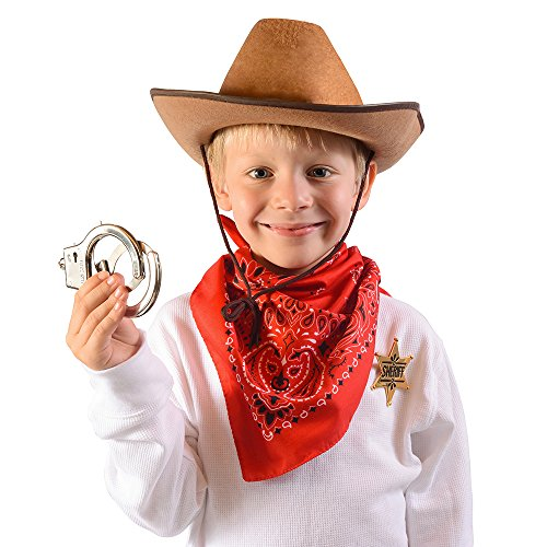 Sheriff Costume - Western Sheriffs Costume Accessories Set by Funny Party Hats¨