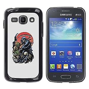 Shell-Star Arte & diseño plástico duro Fundas Cover Cubre Hard Case Cover para Samsung Galaxy Ace 3 III / GT-S7270 / GT-S7275 / GT-S7272 ( Reaper Grim Death Scythe Maiden )