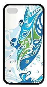 Aquatic Duality3 TPU Case Cover for iPhone 4 and iPhone 4S Black