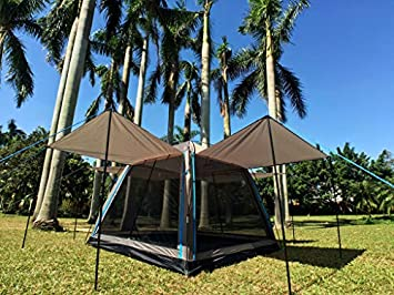 Hasika All-Weather Diversified 8 x 8 Instant Screened Canopy not Include Outside Poles