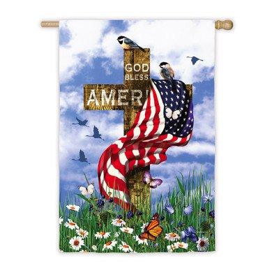 Cheap The Patriots Patriotic Religious House Flag