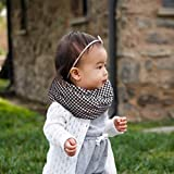 Black and White Houndstooth Flannel Baby Toddler Infinity Scarf