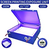 "110V 160W UV Light 25""x21"" Screen Printing Exposure"