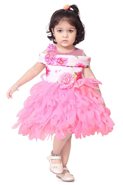 bb396e65c Apna Party Dress Party Frock for The Kids Pink Colour (2-3 Years ...