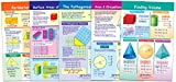 NewPath Learning 93-6506 Perimeter, Circumference, Area and Volume Bulletin Board Chart Set (Pack of 5)