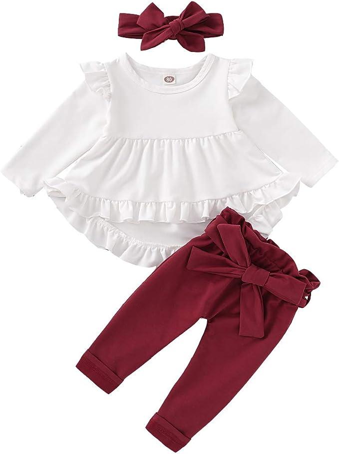 Amazon.com: Bebé recién nacido niña ropa de manga larga ...