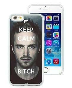 Hot Sale iPhone 6 TPU Screen Case ,Breaking Bad Keep Calm Bitch Jesse Pinkman White iPhone 6 4.7 Inch TPU Unique And Popular Designed Phone Case