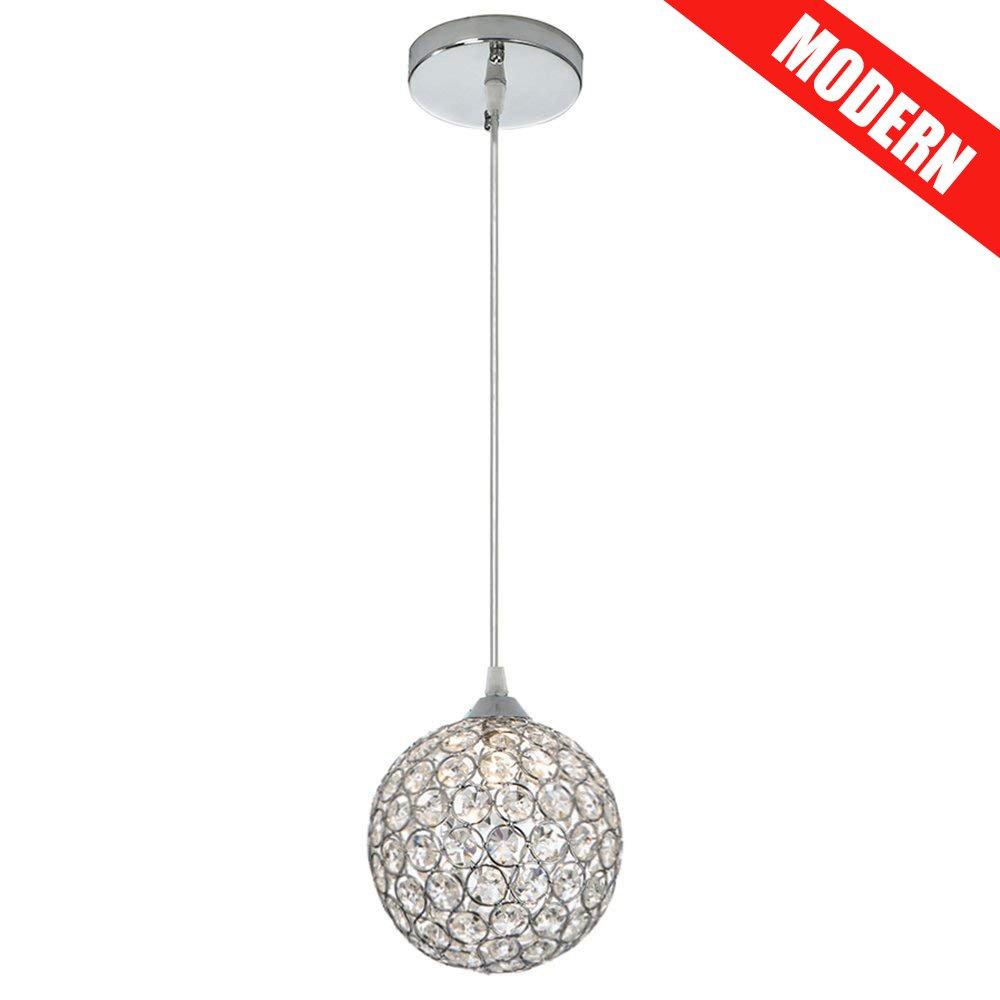 Cotulin 10-57'' Adjustable Cord Length Crystal Silver Indoor Pendant Light, A Pendant Light for Kitchen Island, Restaurants, Hotels and Shops