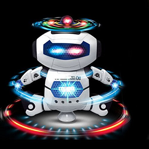 SUIE 1Pcs Electronic Smart Robot Walking Dancing with Musical And Colorful Flashing Lights Fun Toy for children Kids