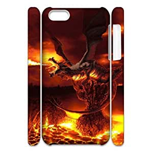 DANGDANG Dragon Shell Phone for iphone5c White Cover Phone Case [Pattern-1]