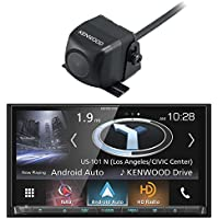 Kenwood DNX874S In-Dash 2-DIN 6.95 Touchscreen DVD Receiver with Navigation System and Kenwood CMOS-130 Universal Rear-View Camera