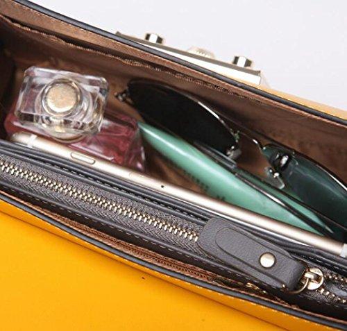 Serrure De Sac WLFHM Main Yellow Chaîne épaule Carré Embrayage Petit Sac Dames Sac Messager De à qtPPFf