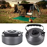 Secologo Ultra-light 1.1L Outdoor Camping Aluminum Portable Coffee Pot Water Kettle Teapot with Mesh Bag Teapot Survival Kettle