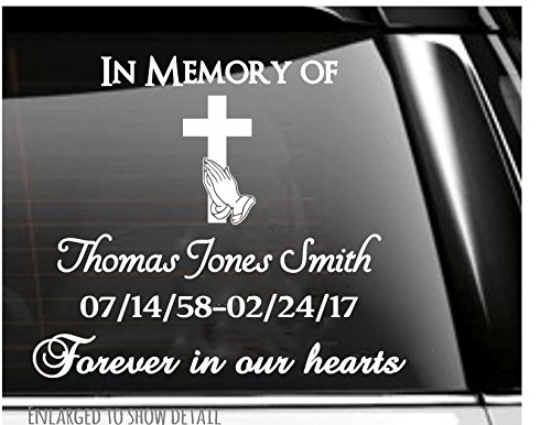 Praying Hands and Cross In Memory of Memorial (Praying Hands Designs)