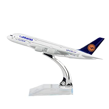 Qids Germany Deutsche Lufthansa AG A380 14.5cm Solid Metal Alloy Model Aircraft