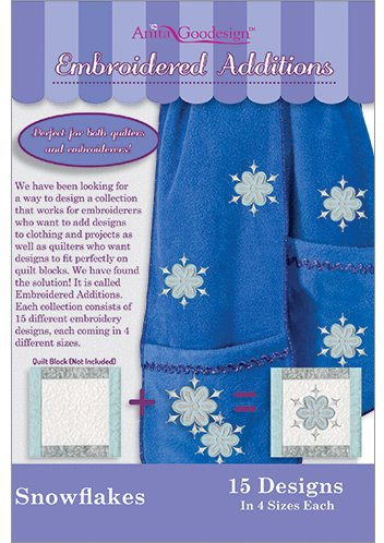 Anita Goodesign Embroidery Machine Designs CD SNOWFLAKES - Embroidedred Additions