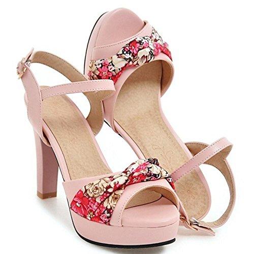 Tacon Pink Sandalias Alto RAZAMAZA Mujer HqYw6n8U