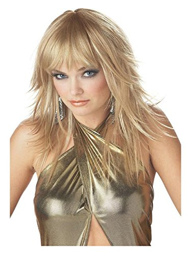California Costume Women's Feathered And Flirty Wig, Blonde, ADULT