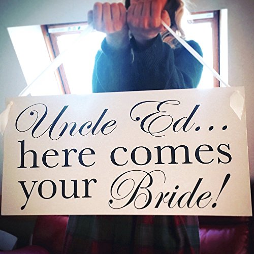 Extra Large Wedding Sign for Page Boy or Flowergirl - Here