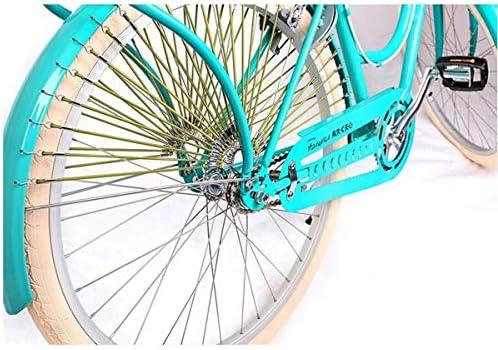 MUZIWENJU Bicicleta Retro, de 26 Pulgadas, Simple y Elegante ...
