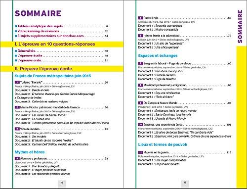 Annales Annabac 2016 Espagnol Tle LV1 et LV2: sujets et corrigés du bac Terminale: 9782218991196: Amazon.com: Books