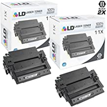 LD Compatible Replacements for Hewlett Packard 11X (Q6511X) Pack of 2 High Yield Black Toner Cartridges for LaserJet 2420, 2420d, 2420dn, 2420n, 2430, 2430dtn, 2430n and 2430tn