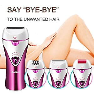 Epilator, Cordless Electric Hair Removal Epilator 3 in 1 Rechargeable Razors Women Bikini Trimmer Hair Removal Shaver, Safe to Use & Easy To Clean For Any Unwanted Fine Hairs (Purple)