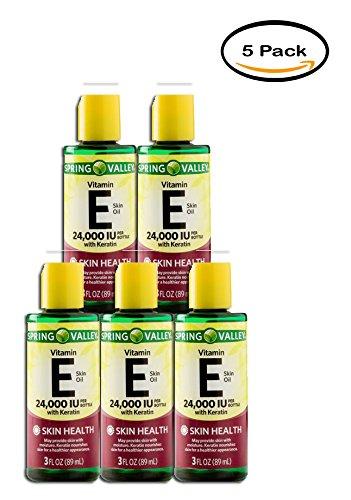 PACK OF 5 - Spring Valley Vitamin E Skin Oil, 24000 IU, 3 Oz