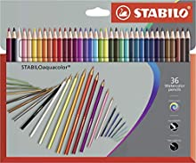 STABILOaquacolor Premium – Funda de piel de 36 Colores Inolora – Lápiz de color