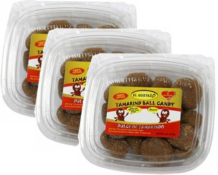 Tamarind Balls. 100% natural. 8 oz Pack of 3