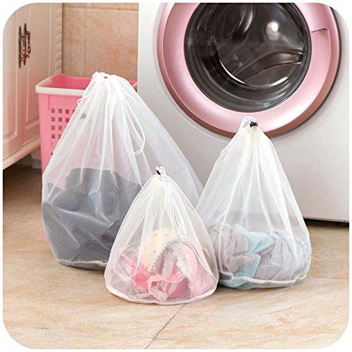 hihamerセットの3メッシュランドリーバッグ旅行ストレージ整理バッグ衣類洗濯バッグ B07DSB1HPW