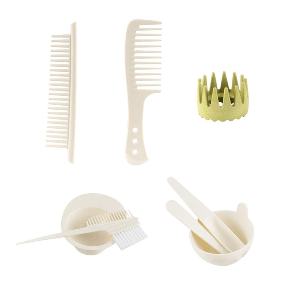 Minkissy Hair Dye Tools Kit Tint Brush Comb Bowl Color Mixing Set DIY for Hairdressing (White) by Minkissy