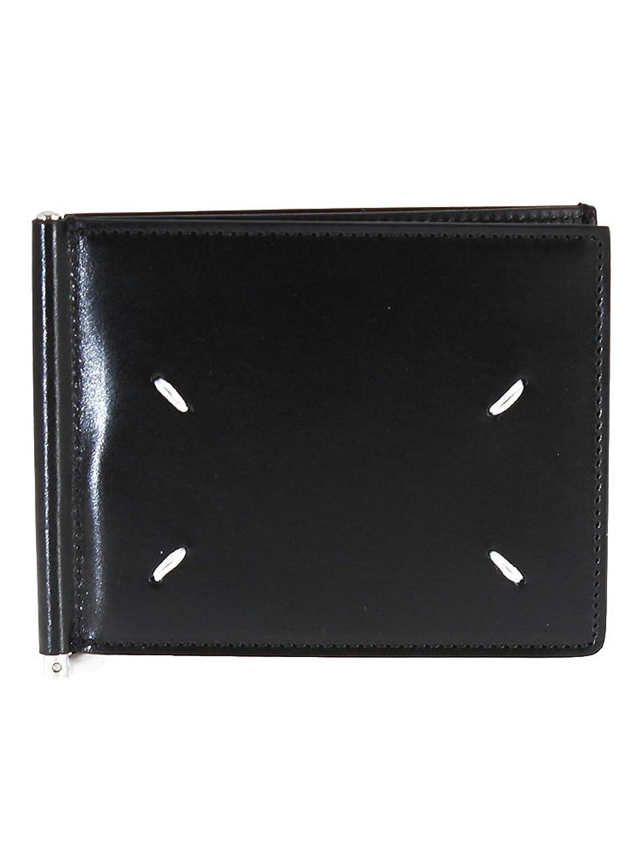 [メゾンマルジェラ] Maison Margiela メンズ 二つ折り財布 マネークリップ付 S55UI0172 P0412 [並行輸入品] B07DPKHG9K965 BLACK/BLACK