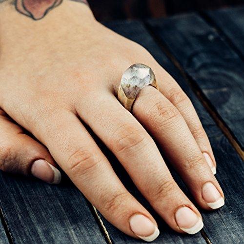 Wooden Resin Ring Wood Resin Ring For Women Blue Ring Handmade Eco Resin Nature Ring Wood And Resin Rings Mountains Gift For Girl Ocean Ring
