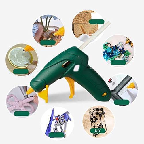 Minmin ホットメルト接着ガン、プロフェッショナルグレード3.7V、DIYマニュアルクラフトプロジェクトやシールにアダルトチルドレンの創造、日常のメンテナンス高速、クリスマスの装飾、グリーン ミニ (Color : Green)