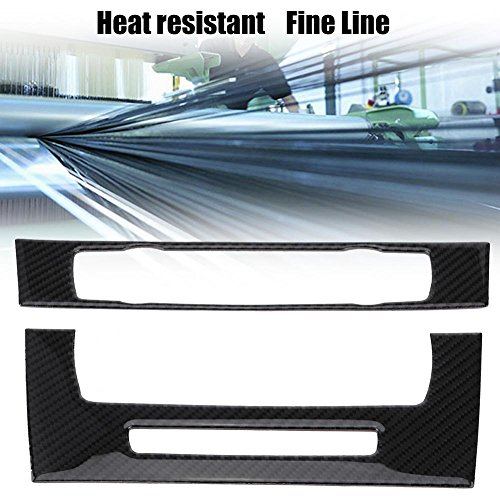 Water Cup Holder Cover,Akozon Car Carbon Fiber Style Water Cup Holder Cover Decoration Trim Fit for X5 E70 2008-2013
