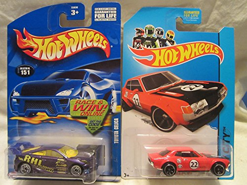 Hot Wheels HW City '70 Toyota Celica  & 2002-151 Toyota Celi